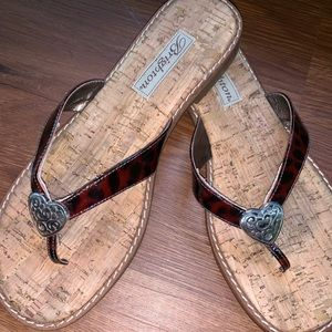 Brighton Shoes - Brighton tortoise shell cork sandal flip flop 8 m